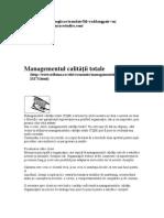 Managementul calităţii totale
