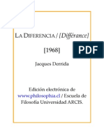 Derrida Jacques La Diferencia