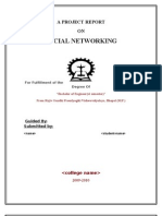 001_A PROJECT REPORT on Social Networking