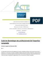 Code de Deontologie Experts Comptables-103