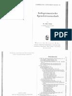 Krahe, Hans - Indogermanische Sprachwissenschaft (1943, 68 Doppels., Scan)
