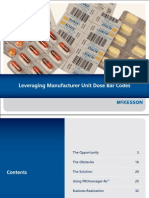Leveraging Manufacturer Unit Dose Bar Codes