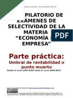Recopilacion Ejercicios Selectividad Punto Muerto 2008-2010