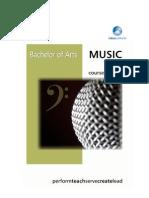 Music Course Outline Brochure Publicity - 2012