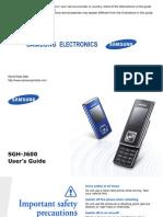 Samsung SGH-J600 Manual