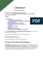Is Ice Cream Strawberry? transcript (inaugural lecture, City University, March 2011)