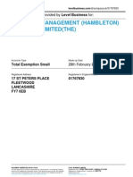 CONIFERS MANAGEMENT (HAMBLETON) COMPANY LIMITED(THE)    Company accounts from Level Business