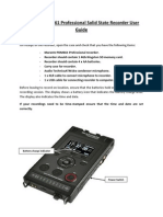 Marantz PMD661 Professional Solid State Recorder User Guide