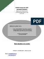 Calendrier musulman_prières et invocations