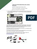 04-06 T1 VW Touareg HID Conversion DIY