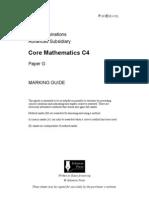 C4 Solomon G MS mark scheme