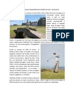 Sebastian Maclean Sub Camp Eon en Torneo de Golf en Escocia, Consume Herbalife