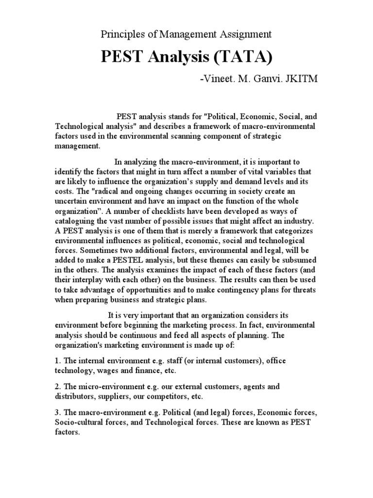 pest analysis pom assignment tata economics trade