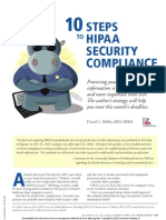 10 Steps to Hipaa Security