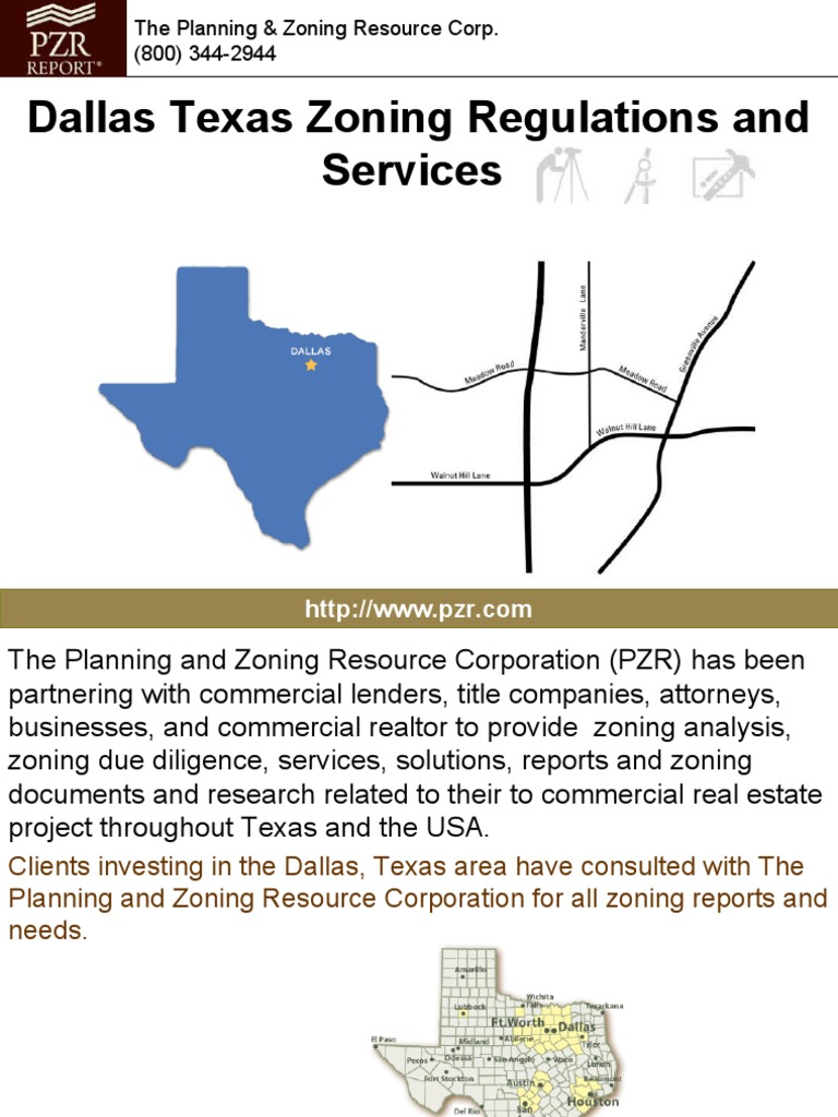 Dallas Texas Zoning Regulations And Services Zoning Warehouse
