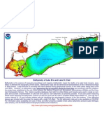 Bathymetry of Lake Erie and Lake St. Clair