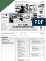 Cisco TelePresence System Profile-Series Codecs-C-Series QuickSetC20 User Guide (TC4.0)