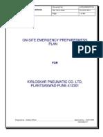 Onsite Emergency Preparedness Plan Saswad Final