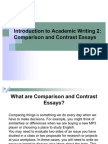 Compare and contrast essay online classes vs traditional
