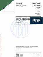 NBR17020 Critérios de Avaliação de Organismo de Inspeçao