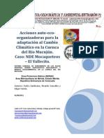 ACCIONES AUTO-ECO-ORGANIZADORAS PARA LA ADAPTACIÓN AL C.C. EN LA CUENCA DEL RIO MUCUJUN