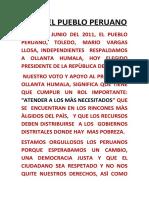 GANO EL PUEBLO PERUANO