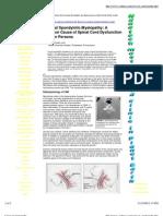 Cervical Myelopathy Info