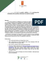 Del monitoreo de la gestión pública a la participación ciudadana - AGORA