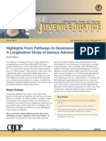 Highlights From Pathways to Desistance a Longitudinal Study of Serious Adolescent Offenders