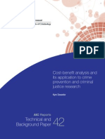 Cost-Benefit Analysis and Its Application to Crime Prevention and Criminal Justice Research