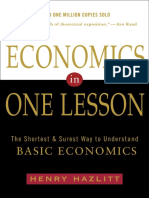 Economics in One Lesson by Henry Hazlitt - Excerpt