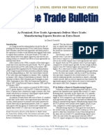 As Promised, Free Trade Agreements Deliver More Trade