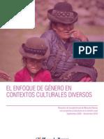 El Enfoque de Genero en Contextos Culturales Diversos