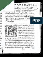 Carta de D. João IV ao Cardeal Richelieu