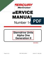 mercruiser 4 cyl 3 0 service manual gasoline internal combustion rh es scribd com alpha one gen ii service manual mercruiser alpha one gen 1 service manual pdf