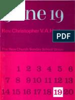 Christopher Hasler JUNE 19 New Church Press Manchester 1970 Swedenborg June 19th 1770