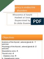 2- Emergency in Endocrine Disorders SEMINAR