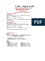 2011 Summer Camp Registration Forms