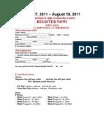 2011 Summer Camp Registration Forms