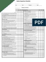 Safety Insp Checklist