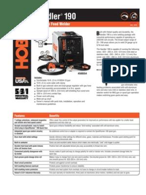Spec Sheet - Handler 190 | Mechanical Engineering