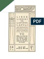 Liber Lapidiz Lazuli