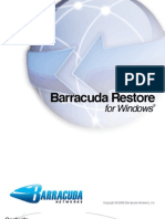 Barracuda Restore Windows Manual