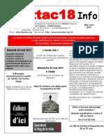 Attac18 Info 2011. Mai-juin