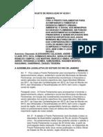 Projeto de Resolução nº 42/2011 - Cria Frente Parlamentar para acompanhar o desenvolvimento urbano, ambiental e social dos municípios da Baixada Fluminense