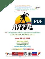 @Fvciclismo FVC Campeonatos Nacionales de MTB LA AZULITA, MERIDA 20110503