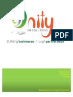 Unity HR Brochuer