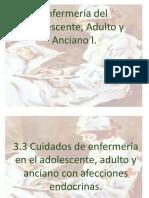 3.3 Cuidados de enfermería en el adolescente, adulto y anciano con afecciones endocrinas.