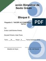 6to Grado - Bloque 2 - Proyecto 3