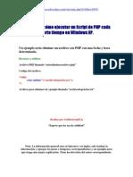 Ejecutar Codigo PHP Automaticamente